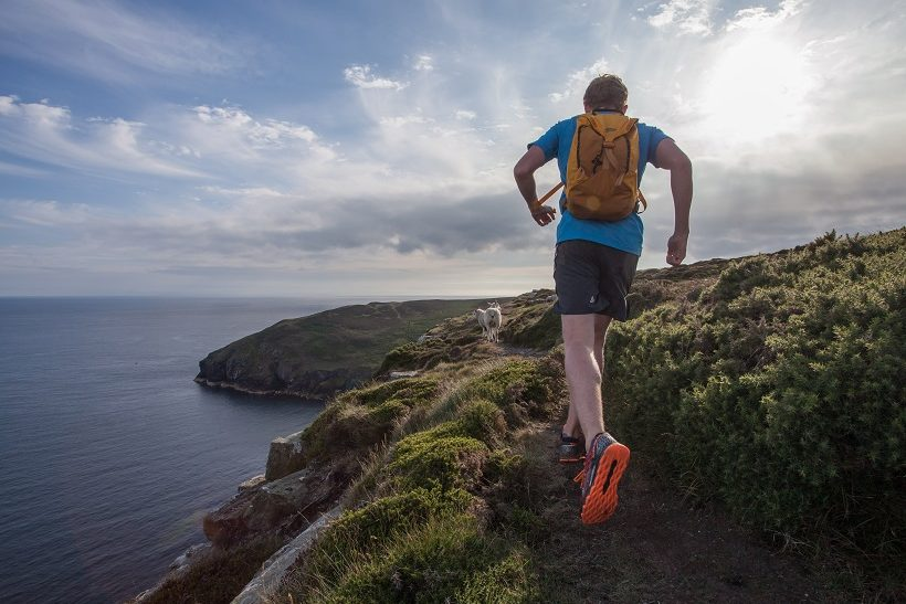 Runner on South West Coast Path